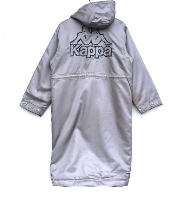 Kappa Rare!! Kappa Hoodie With Detachable Hooded Long Coat Embroidered Big Logo  Medium Size 0dadeec74