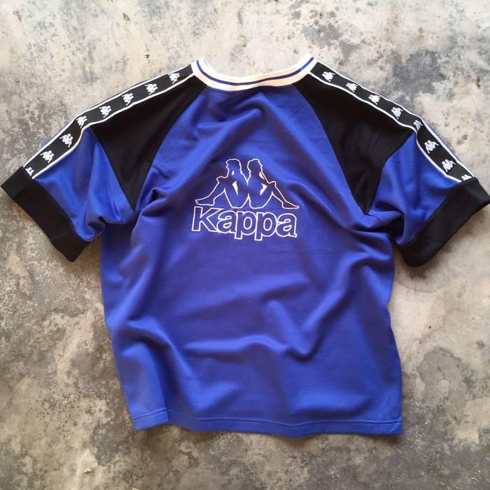 Kappa Vintage Bootleg Kappa Side Tape T Shirt Size l - Short Sleeve ... f1d8b67cf