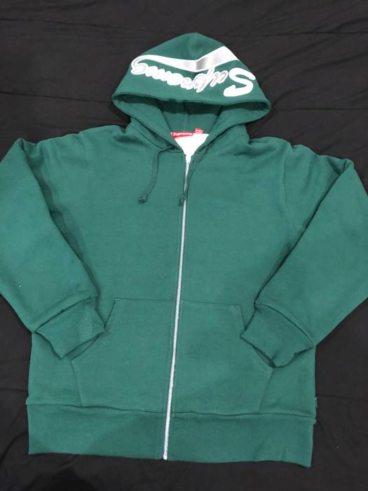 Supreme Supreme Thermal Zip Up Sweatshirt Dark Green M Size m ... 292aaa2bd19