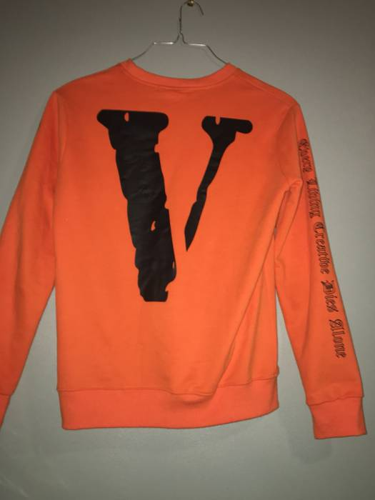 Off White X Vlone Every Living Creative Dies Alone Crew Neck