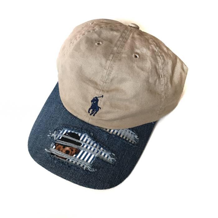 Polo Ralph Lauren Custom Ralph Lauren Polo Bear Distressed Denim Hat ... 9362f580f88