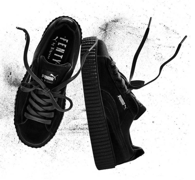 b3a9cc49293ec1 Puma X Rihanna Puma x Rihanna Fenty Black Velvet Creepers Size 10 ...
