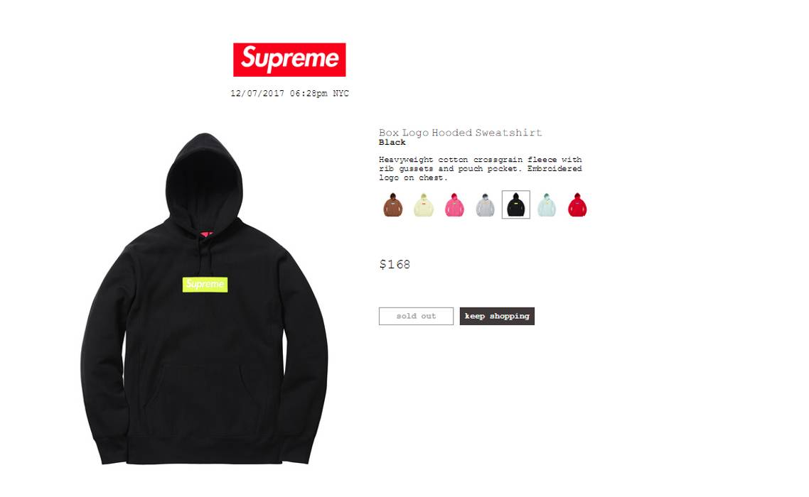 Supreme Black Green Box Logo Hoodie Size l - Sweatshirts   Hoodies ... f35ed6531f07