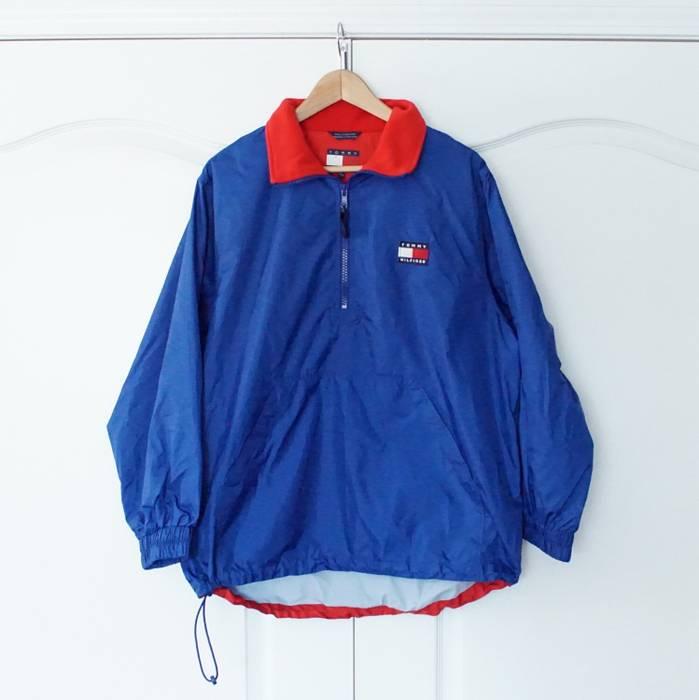 Tommy Hilfiger Vintage 90s TOMMY HILFIGER half zip pullover Blue  WINDBREAKER Jacket L Large Size US bfffe84cf2