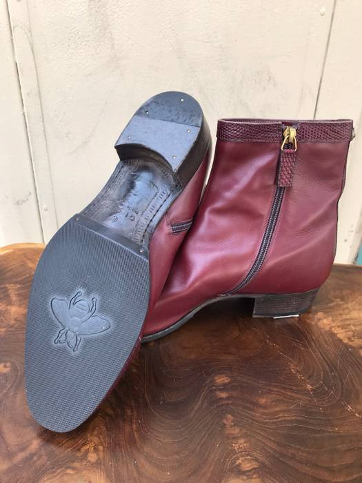 d5eaca65cfae9 Gucci Gucci Bordeaux Leather Boot With Dragon Embroidery Size US 7   EU 40  - 5