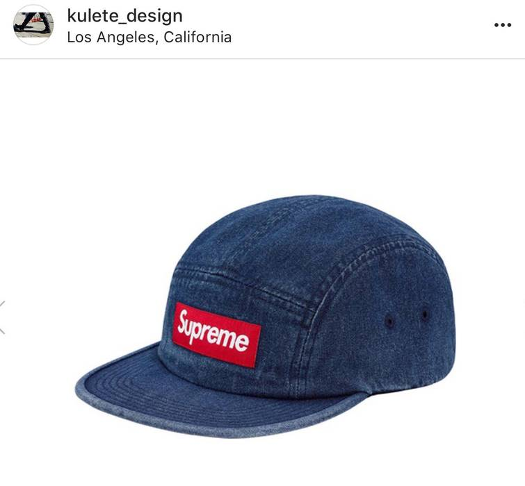 Supreme DENIM SS18 Supreme Washed Chino Twill Camp Cap Authentic Size ONE  SIZE 4b018436d41