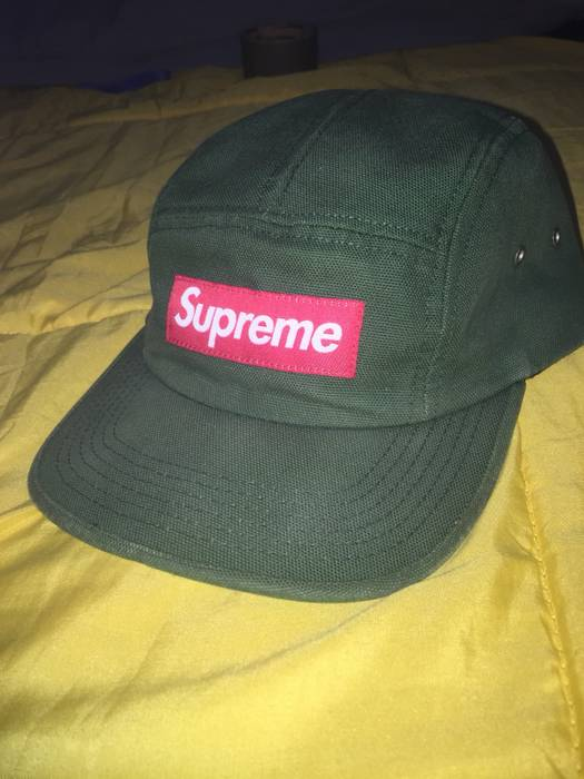 50314c8d9f2 Supreme 2014 Supreme Olive camp 5 panel box logo hat Size one size ...
