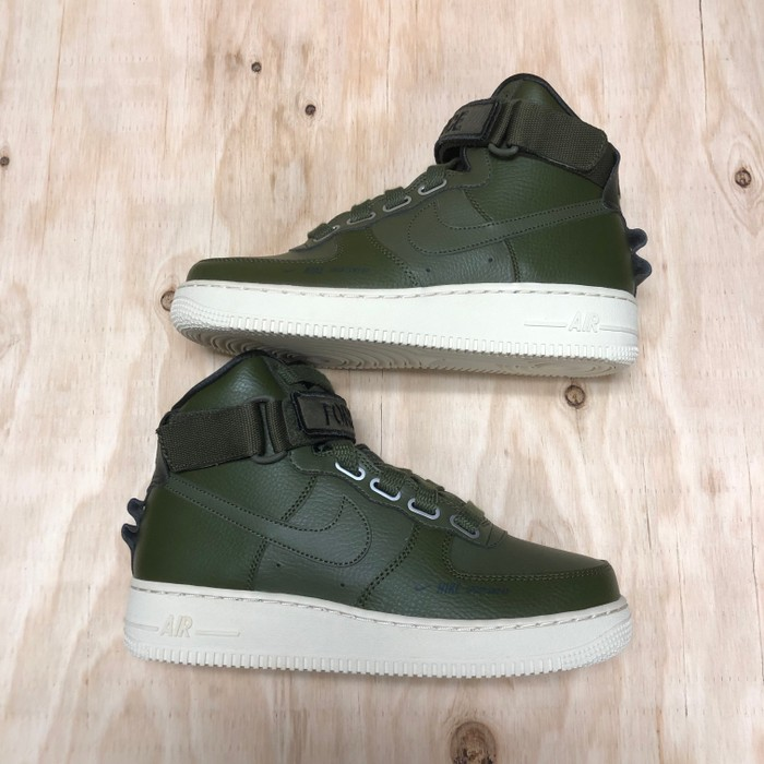 7e1e6e6d4bb4 Nike 2018 W Nike AF1 HI UT Olive Canvas Air Force 1 High Utility Size US