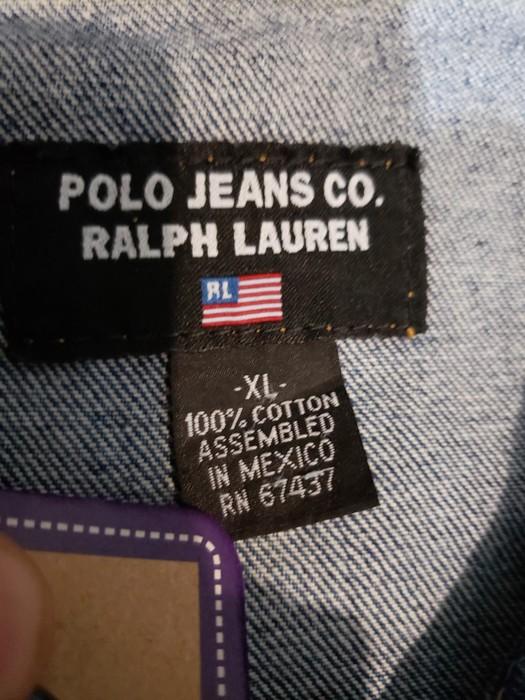 0f0871b9ec9 Ralph Lauren Rare Vintage Polo Ralph Lauren Big Flag Denim jacket Men sz XL  Size US