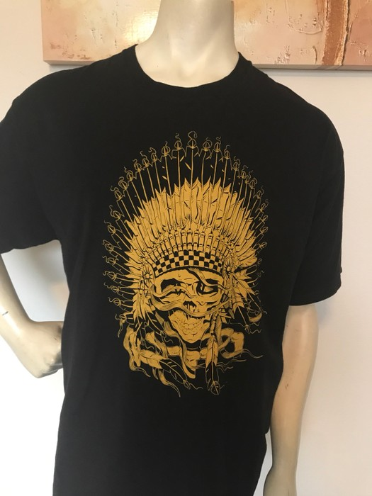 1bad4a9cb3 Vans Indian Skull Head Graphic Tee Size xl - Short Sleeve T-Shirts ...