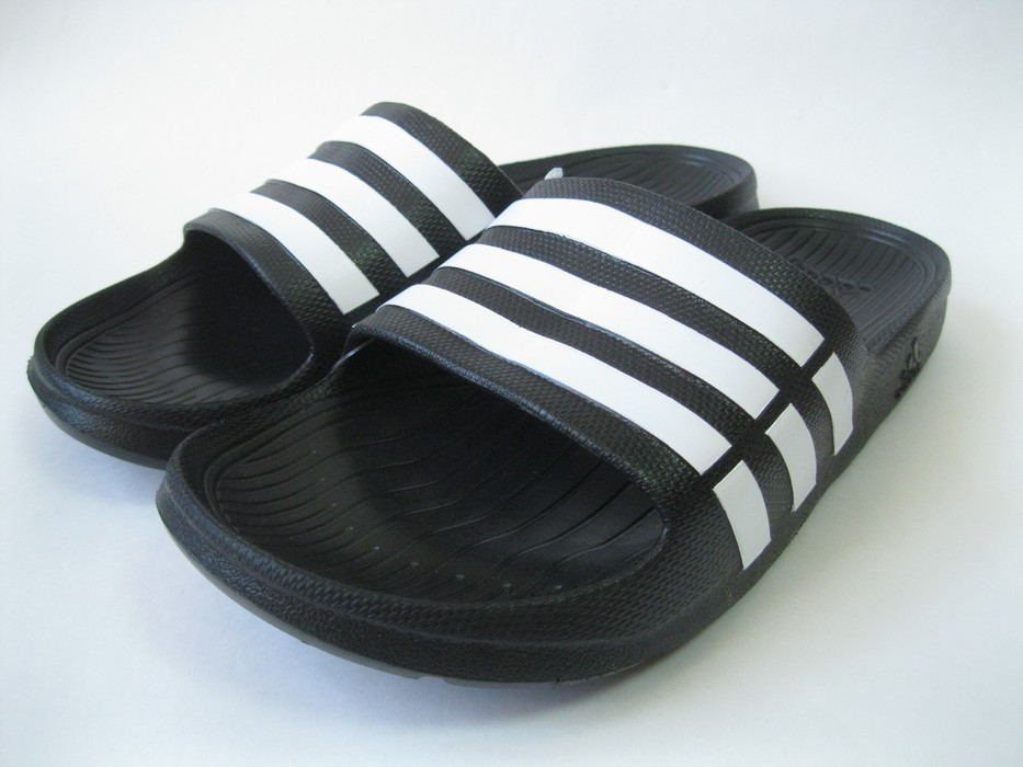 de52e606691b Adidas Duramo Slides Black G15890 Size 12 - Sandals for Sale - Grailed
