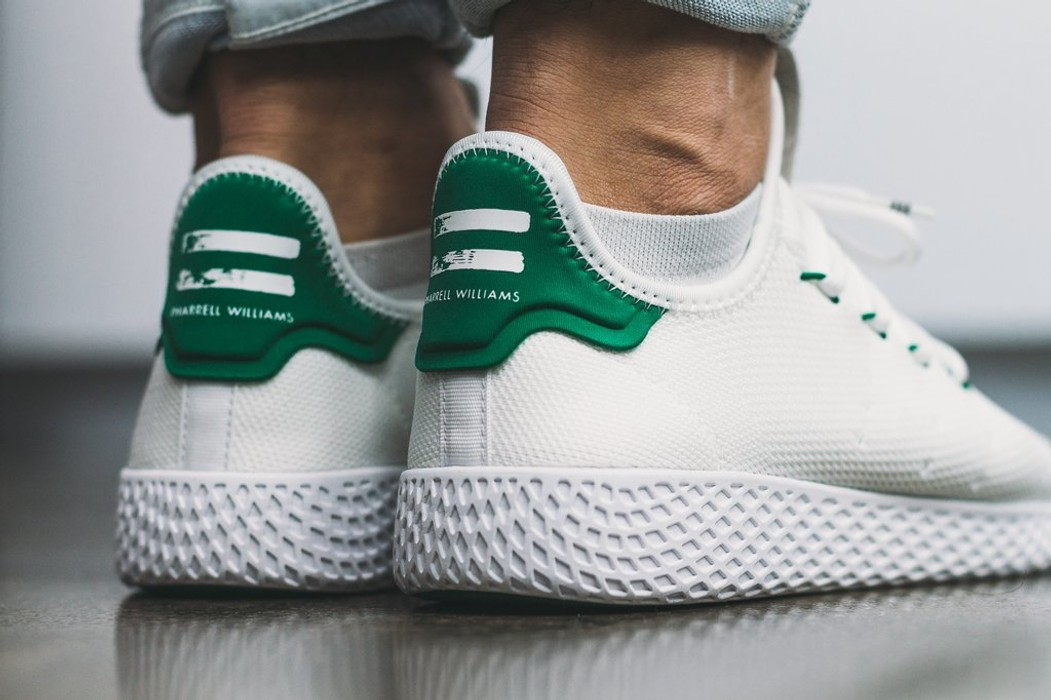 c3b8880b8 Adidas adidas Originals x Pharrell Williams Tennis HU PK - White   Green  Size 10 Size