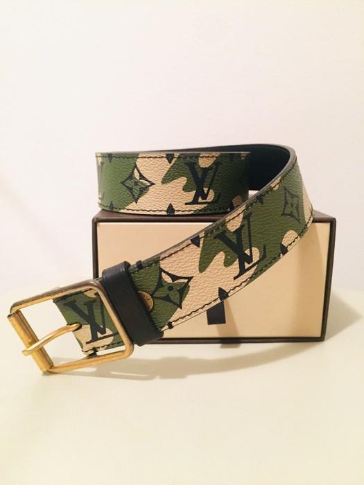 f07d0bf40b48 Louis Vuitton Louis Vuitton Takashi Murakami Monogramouflage Belt Size ONE  SIZE