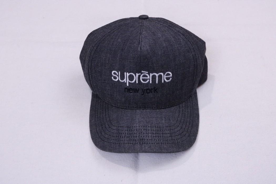 5c49efba9bd Supreme Supreme Classic Logo Denim Chambray Snapback Hat 5 Panel Camp Cap  SS13 Size ONE SIZE