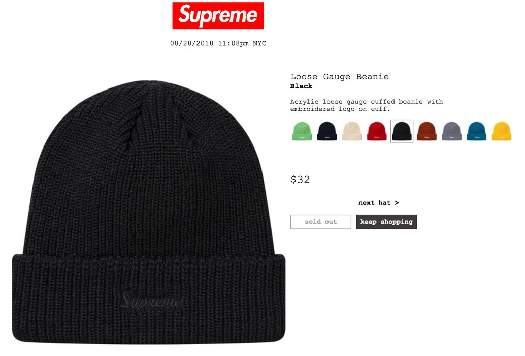 3c17d05029f Supreme Loose Gauge Beanie Black Size one size - Hats for Sale - Grailed
