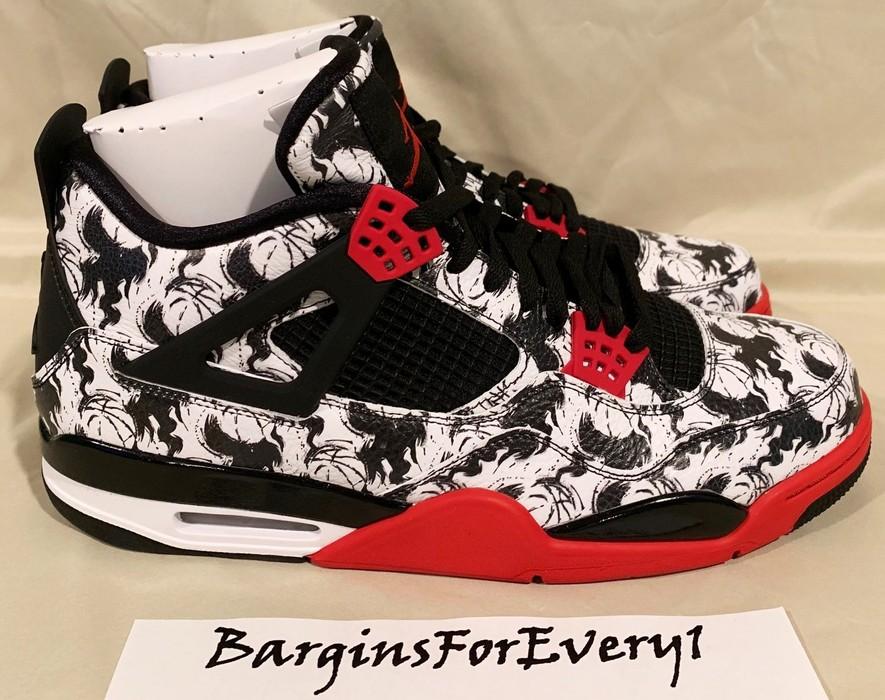 fbc473d059c1 Jordan Brand Air Jordan 4 Retro SNGL DY (Tattoo) - Size 14 - Black ...