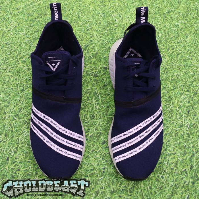 13a5a35ec Adidas Adidas NMD R2 White Mountaineering Navy RARE Sz 12.5 Worn BOOST Size  US 12.5