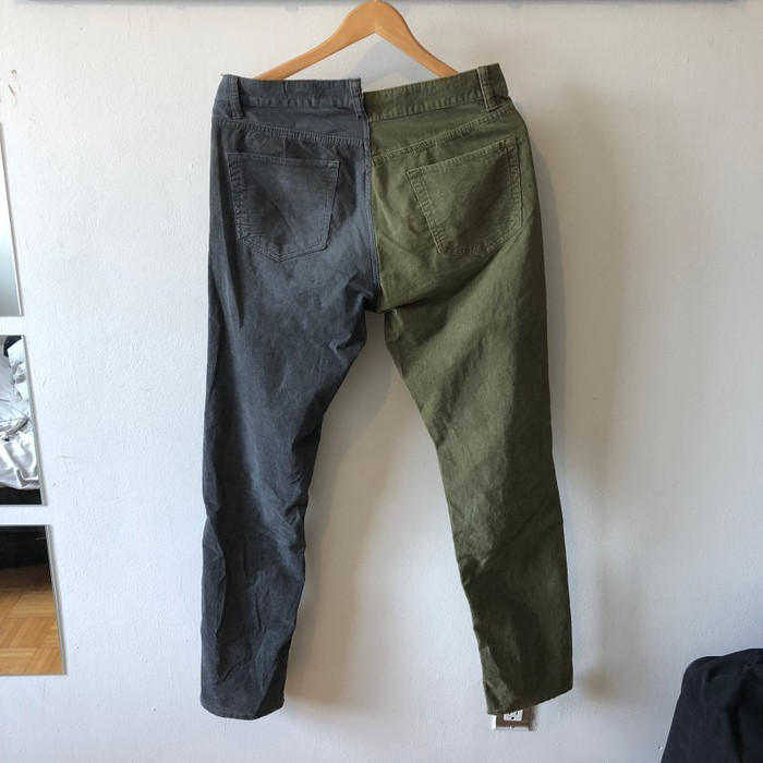 c94d8eee8cb600 Vintage Half and Half Corduroy Pants Size 32 - Casual Pants for Sale ...