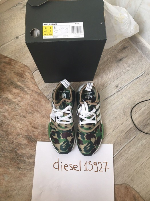 55ef91ad0 Adidas BAPE x adidas NMD R1 Camo From Russia New Size 8.5 - Low-Top ...