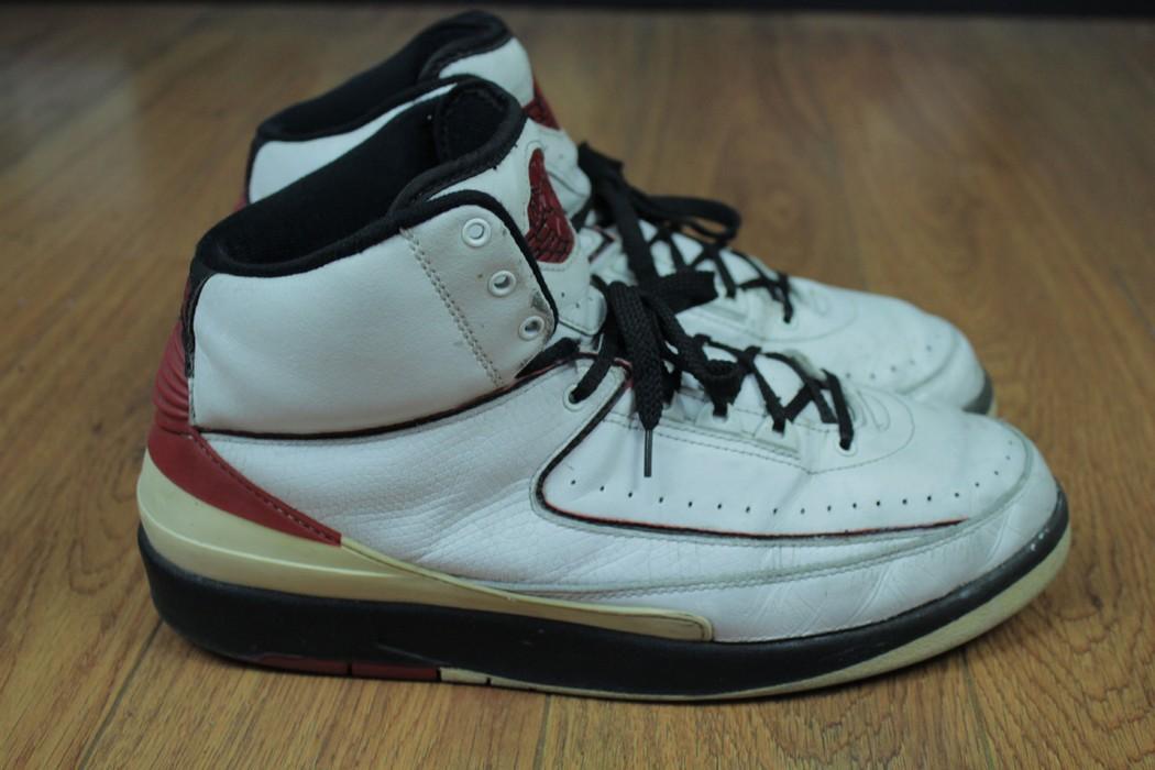 brand new 191d5 febea Jordan Brand. Nike Air Jordan 2 Chicago White Leather Basketball Retro ...