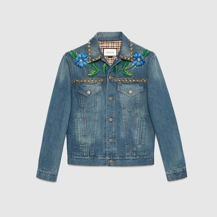 bd1be2dcabbd Gucci Mare Gothicum denim jacket Size l - Denim Jackets for Sale ...