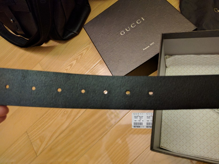 5a01d2891ee Gucci Guccissima belt with square G Size 38 - Belts for Sale - Grailed