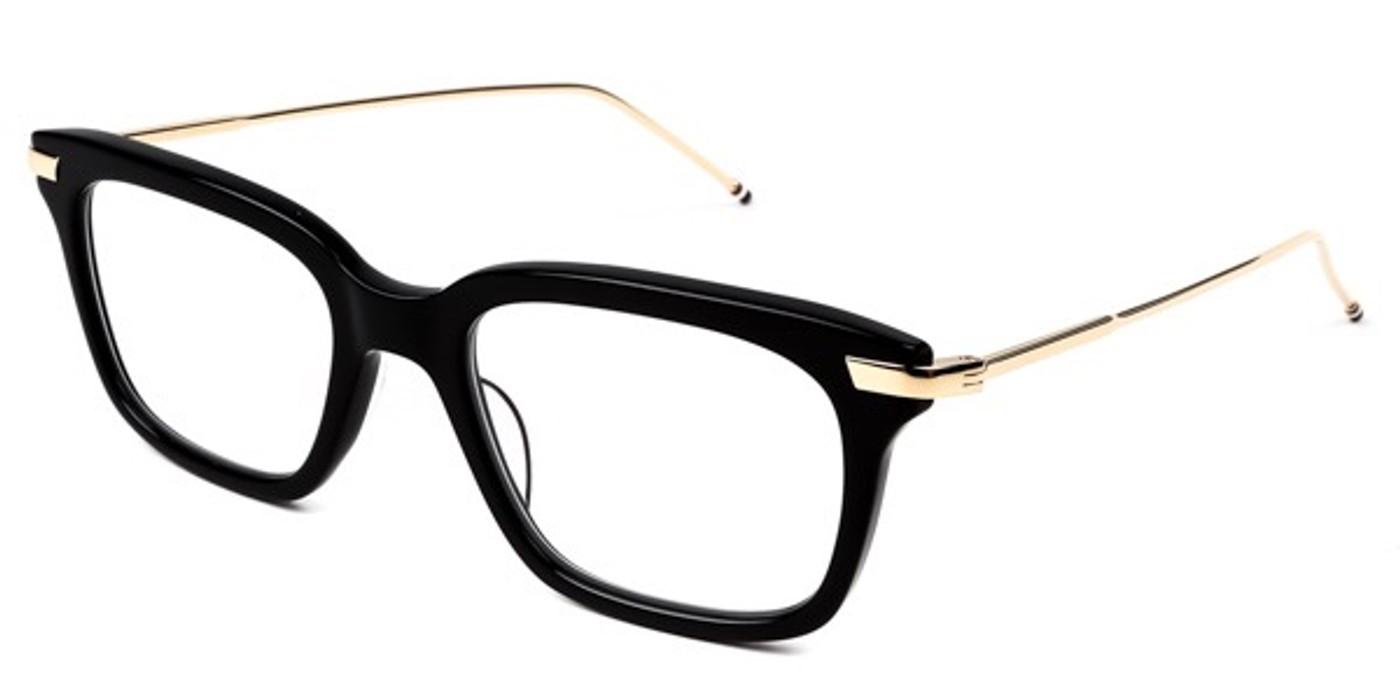 933143516ef Thom Browne Thom Browne Glasses TB-701 Black frame 12K Gold Size ONE SIZE