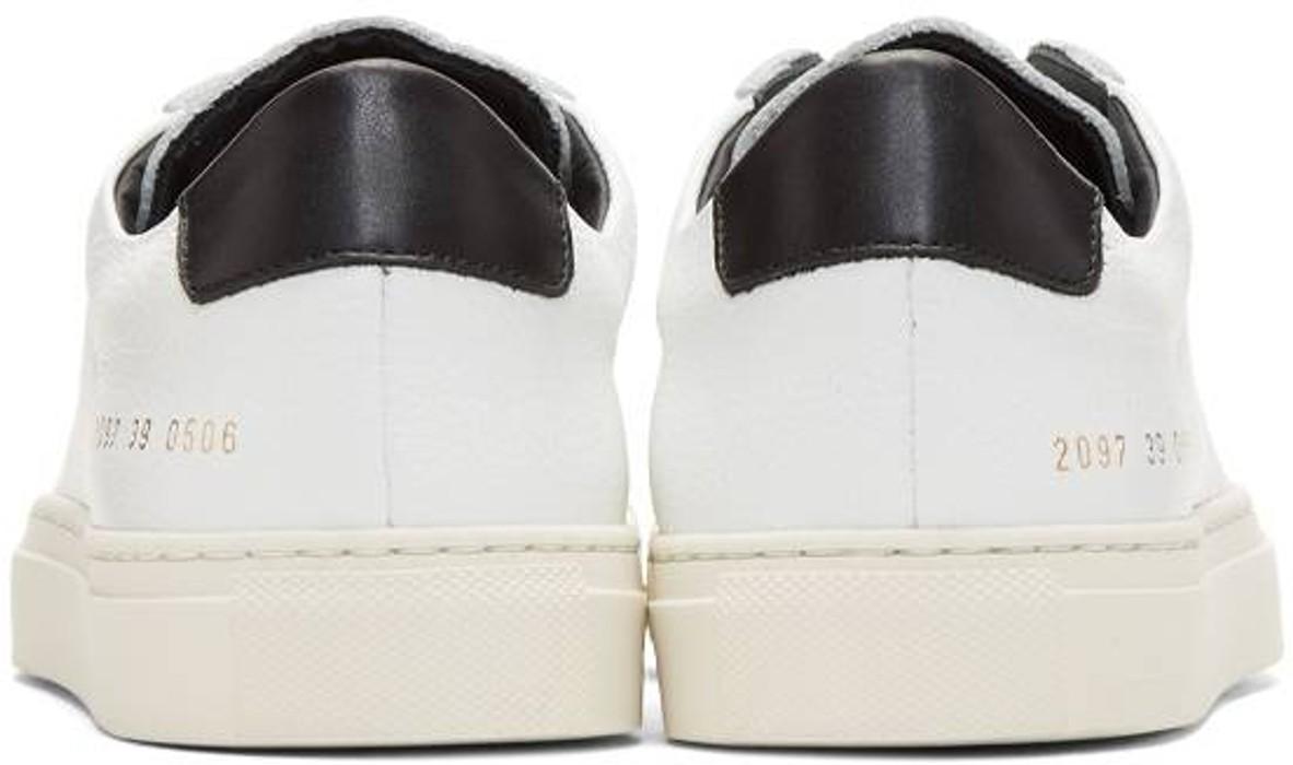8af63a99d8ec5 Common Projects COMMON PROJECTS Achilles Retro Low White Black US 10 EUR 43  Size US 10