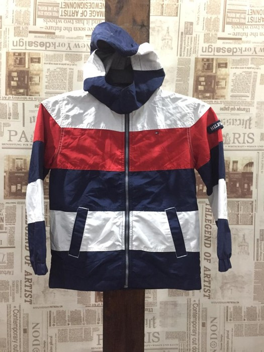 59db28083404e8 Vintage Vintage TOMMY HILFIGER Kids Very Nice Colour Block Jackets Size US  XXS   EU 40