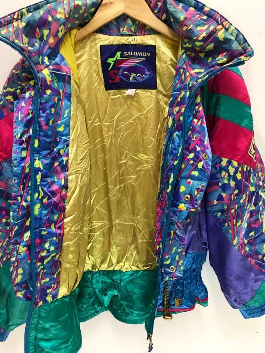 6cb125f1cc30 Salomon Salomon Skiwear French Brand Multi Colour Jacket Winter Made in  Japan Size US M