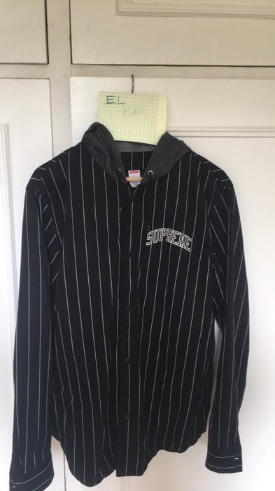 18264e325f9 Supreme Denim Hooded Baseball Shirt Size l - Shirts (Button Ups) for ...
