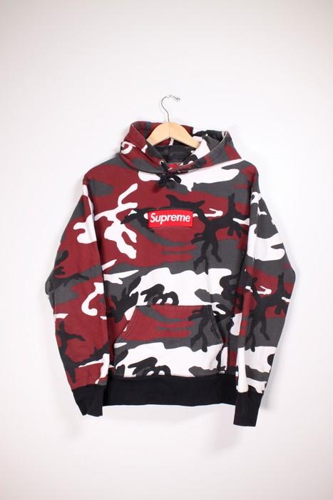 916b7240c674 Supreme Urban (Red Camo) Box Logo Hoodie Size m - Sweatshirts ...