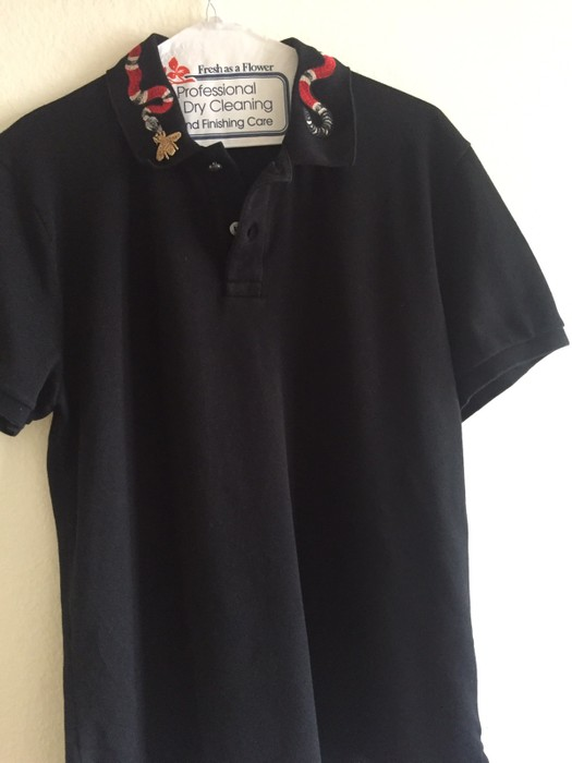 42700b5be05 Gucci cotton Polo With Kingsnake Embroidery Size l - Polos for Sale ...