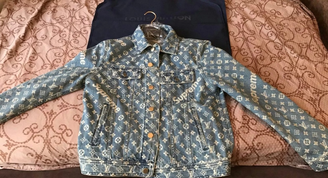 d9be4a0d8117 Supreme Louis vuitton denim jacket Size m - Denim Jackets for Sale ...