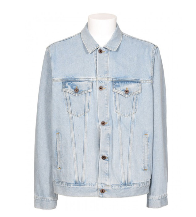 f45dfd9a8b92 Off-White Not Real Angel Oversize Denim Bleach Size US XL   EU 56