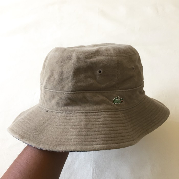 429d03bbe5c Lacoste Authentic Lacoste Two Way Reversible Bucket Hat Size one ...