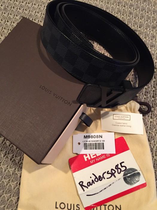 dc0b12fac8ce Louis Vuitton LV Initiales 40MM Damier Graphite Belt Size 120CM Size ...