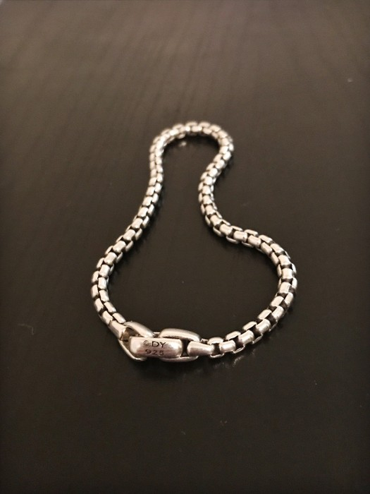 374dfed865b5e David Yurman Sterling Silver Medium Box Chain Bracelet