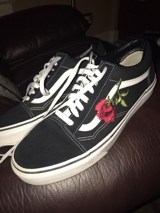 2e6abece93b6 Vans rose embroidered vans Size 11 - Low-Top Sneakers for Sale - Grailed