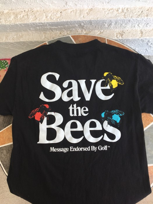 15e0affc9796 Golf Wang Golf  Save the Bees  Black Tee Size s - Short Sleeve T ...