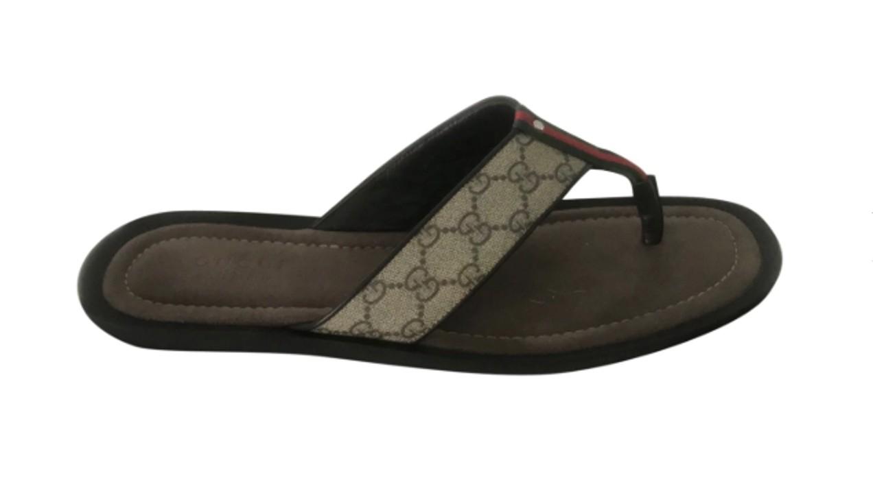 f12b61bb75dd Gucci Men s GG Supreme Canvas Flip-Flop Sandals Size 14 - Sandals ...