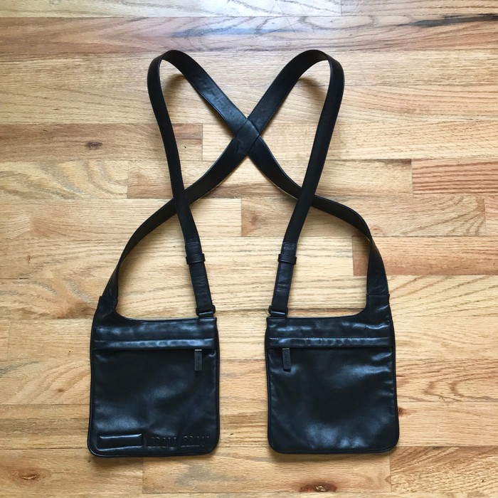 bc7845e58e1d Prada Vintage Double Pouch Holster Bag Excellent Condition Size ONE SIZE