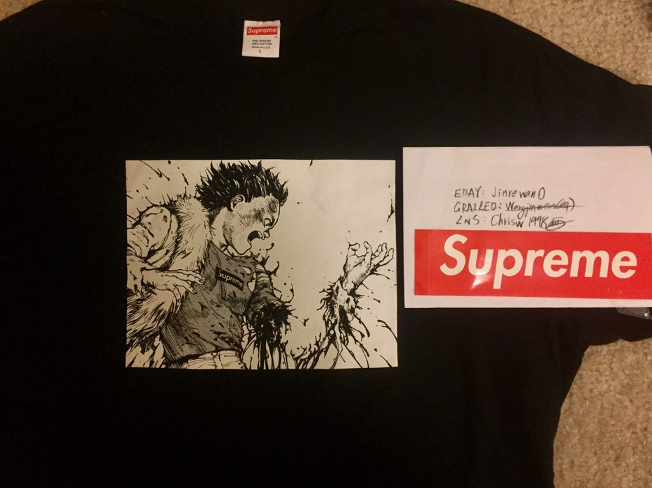 8a9c19ff42e Supreme Supreme Akira Arm Tee Black Sz M New In Hand Size l - Short ...