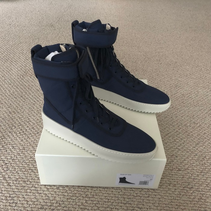 128e7afa2de8 Kith Nyc Fear of God x Kith Military Sneaker Navy New York Blue 45 ...