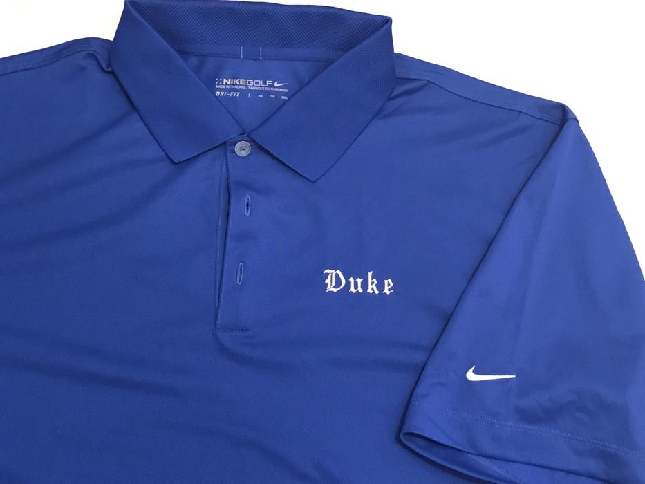 Nike DUKE Blue Devils NIKE Golf Polo T-Shirt College Basketball NCAA Size  US XXL f1edccd01