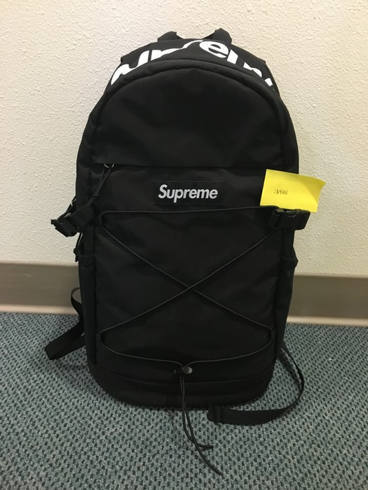 dc2ec4c8e8dd Supreme Supreme Backpack Black SS16 210 Denier Cordura Box Logo Size ONE  SIZE