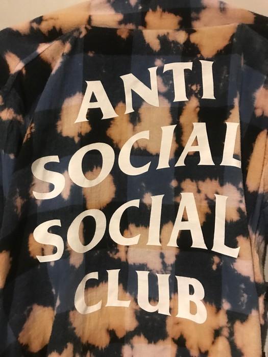 5443b84c31eb Antisocial Social Club ASSC BUFFALO PSY BLUE FLANNEL Size US M   EU 48-50