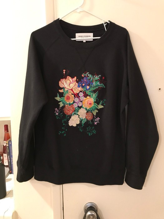52f0a148d44568 Bianca Chandon Floral Crewneck Size m - Sweaters   Knitwear for Sale ...