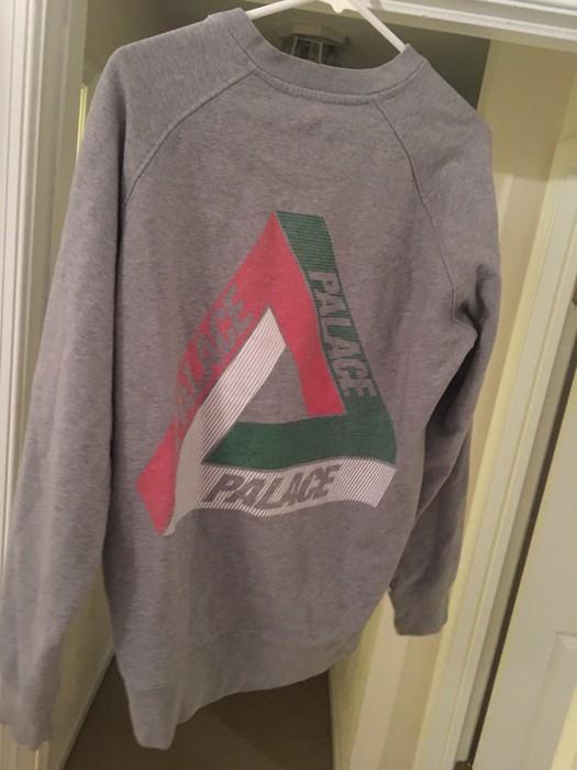 af9c7e50976e Palace Palace Tri-Line Brit Crewneck Sweater - Grey Size US L   EU 52