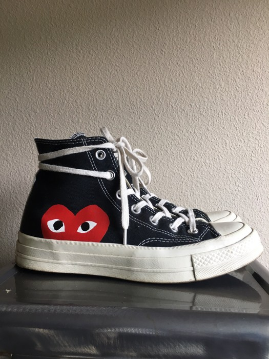 4c1bb153cd96 Comme des Garcons PLAY x Converse Chuck Taylor Hidden Heart High Top  Sneaker Size US 6
